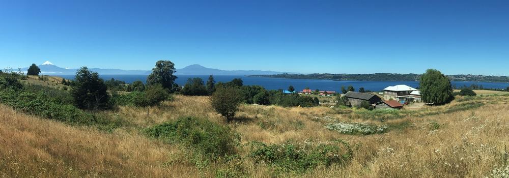 Terreno de 1 ha con vista insuperable al lago y volcanes