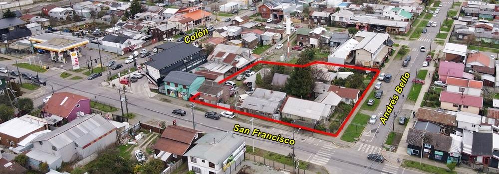 Terreno urbano de 2.174 m2 para proyectos inmobiliarios